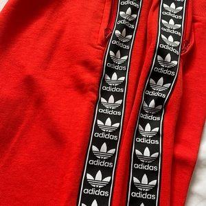Track pants Adidas , red orange colour size 12 US